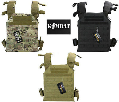 Kombat Military Spartan Molle Plate Carrier BTP/MTP Airsoft  Army Paintball