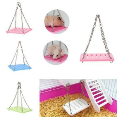 Rats Hamster Toys Wooden Hammock Swing Seesaw Gnawing Climbing Place Houses Y