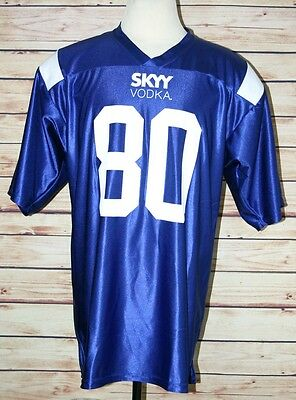 SKYY Vodka Promotional Football Jersey Blue Liquor Advertising Missing Tag
