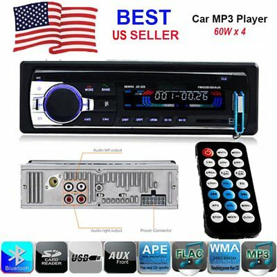 Car Stereo Radio Bluetooth In-dash Head Unit Player FM MP3/USB/SD Remote Control