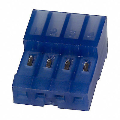 (CS-044) 3-640442-4 MTA 100 Connector Receptacle 4 Position 26 AWG BLUE 2.54MM