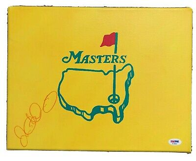 Rory Mcilroy MASTERS Signed Auto Custom Canvas Golf Flag - US Open COA PSA/DNA
