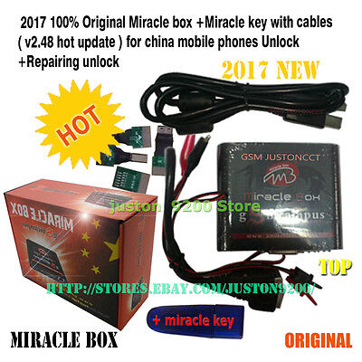 Miracle box +Miracle key + cables +with 4 Adaptors free shipping