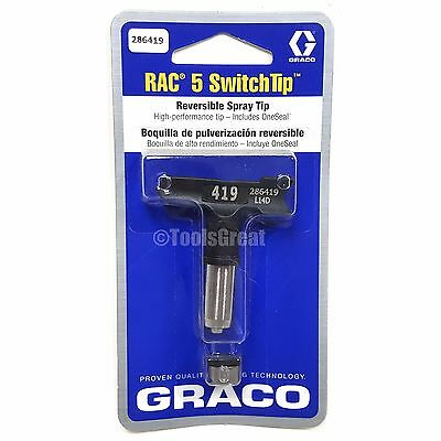 Graco Rac 5 286419 Switch Tip Paint Spray Tip Size 419