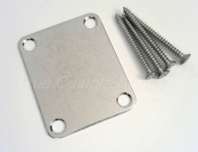 True Custom Shop® FACTORY AGED Relic Chrome Neck Plate For Fender Strat Tele