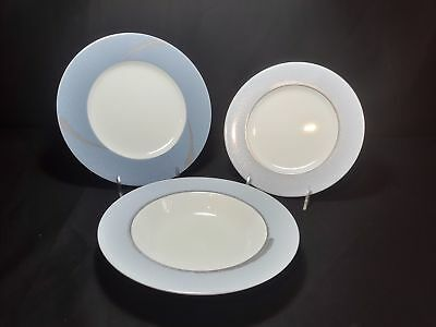 Noritake Ambience Blue 7968 1 Salad Plate, 1 Luncheon Plate and 1  Rim Soup Bowl