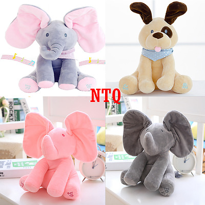 Peek a boo Elephant Plush Toy Baby Singing Animated Stuffed Kids Doll Animal