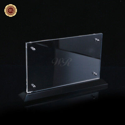 WR High Grade Acrylic Money Currency Display Frame Bank Note Holder Collection