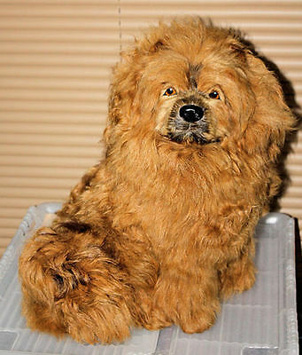 Chow Chow RED Large Dog Goat Hair Furry Animal Photo Prop Replica Collectible