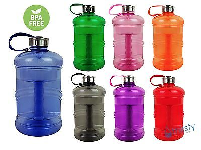 BPA Free Water Bottle Sports Gym Canteen Jug Container 2.3 Liter / .6 Gallon New