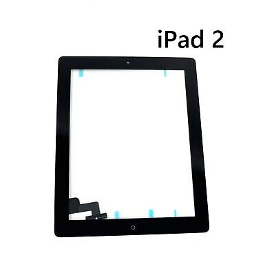 For iPad 2 Digitizer Touch Screen Glass Black With Home Button and Adhesive