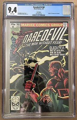 Daredevil #168 ⭐️ 1st First Elektra ⭐️ CGC 9.4 Graded