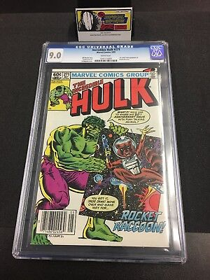 Incredible Hulk #271 CGC 9.0 1st Appearance of Rocket Raccoon Marvel Comics 5/82