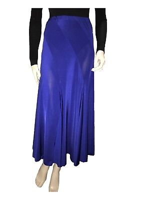 Electric Blue Skirt great for Ballroom Dancing - Size S - A Grade Condition
