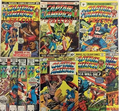 Captain America Bronze Age Bundle. 10 x issues from #164 (Marvel 1973 onwards)