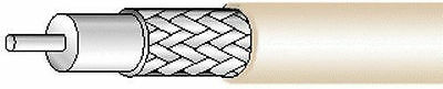 WEST PENN WIRE Coaxial Cable RG59/U 20AWG 500' Bare Copper 25815