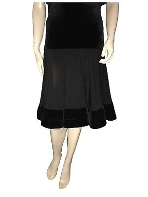 Black Skirt great for Latin Dancing - Size 10 - A Grade Condition