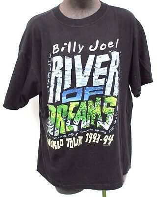 Vintage 1993 - 94 Billy Joel River Of Dreams Tour Large CONCERT Tour T-SHIRT