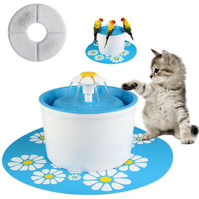 1.6L Dog/Cat Pet Water Fountain Automatic Flower  Style Drinking Bowl  US