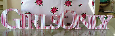 Provincial Shabby Country  Vintage Cottage Wooden Sign Girls Teenager