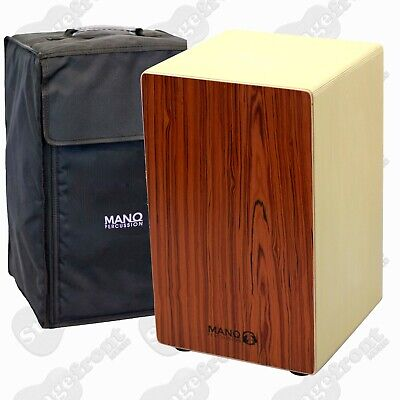 Mano Percussion Wooden Cajon Rosewood Veneer Front Adjustable Snare Wire Mp985