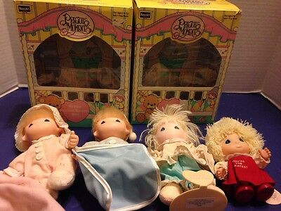 Precious Moments Baby Lot Vintage Applause Enesco Rose Art Lot If 4