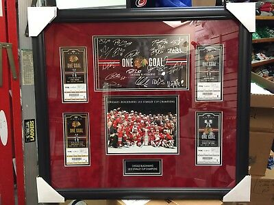 Autographed 2015 Chicago Blackhawks Season Ticket Holder W/ JSA COA