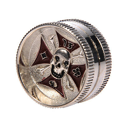 2 Layers Zinc Alloy Metal Herb Herbal Crusher Hand Muller Smoke Herb Grinder
