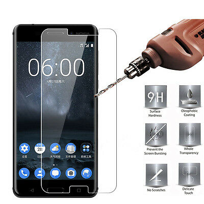 Premium 9H Tempered Glass Screen Protector for Nokia 3 / 5 / 6 / 8