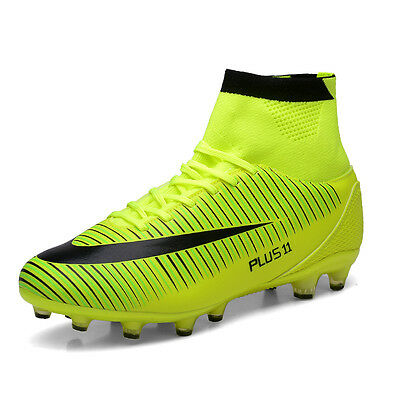 Kids Boy Girls Outdoor Football Boots Firm Ground Ankle Top Soccer Cleats Shoes