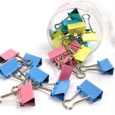 Portable 10Pcs 15mm Metal Binder File Clips For Office Paper Ticket DIY
