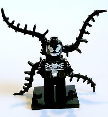 Venom Minifigure - new in bag - Lego compatible figurine figure spiderman black