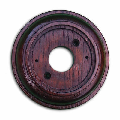 """Mahogany Plinth, Varnished and Weatherproof, for 76mm (3"""") dia Bell Pushes"""