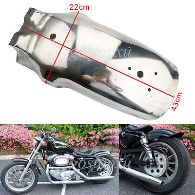Unpaid Chrome Motorcycle Rear Fender Mudguard For Harley Chopper Cruisers Yamaha