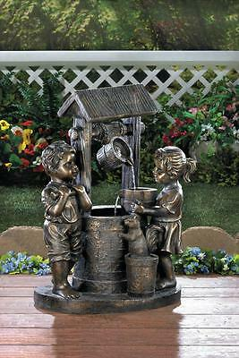 * Wishing Well Outdoor Water Fountain With Pump For Your Backyard Garden Decor *