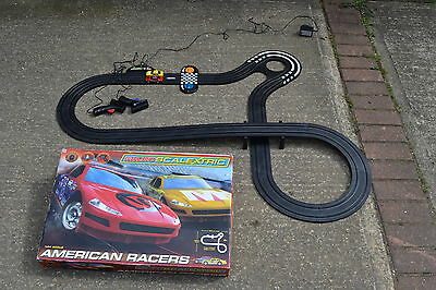 Micro Scalextric American Racers Boxed & Complete