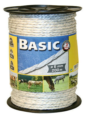 Corral Basic Fencing Rope C/W Copper Wires 200M Livestock Equine Fencing Horse C