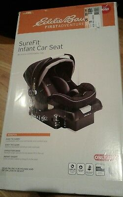 New in box ! Eddie Bauer Sure Fit  Infant Car Seat an extra comfortable ride