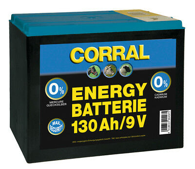 Corral Zinc-Carbon 130 Ah Dry Battery 9V Livestock Equine Fencing Horse Cattle