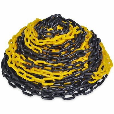 #Yellow and Black Plastic Safety Chain 6mm x 30 meter Roll Warning Security Chai