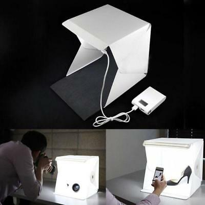 LED Chambre Photo Studio Tente Photographie éclairage Toile de fond Cube Box EH