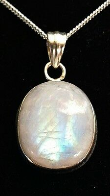 Stunning Moonstone Handcrafted .925 Solid Sterling Silver Pendant (2075)
