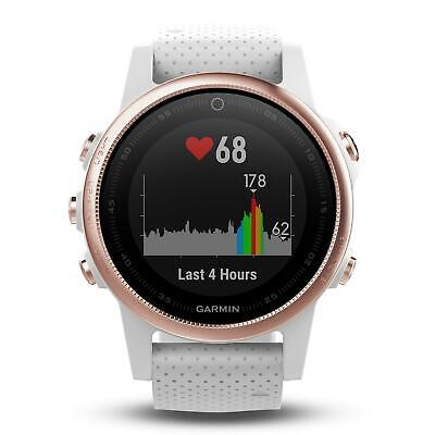 Garmin fenix 5S Sapphire - Rose Gold with White Band   FREE Postage