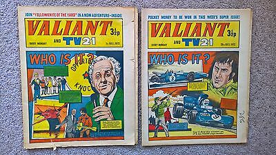 2 x Valiant and Lion comics - Dated 01/07/1972 & 29/07/1972