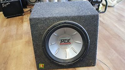 "MTX 10"" or 12"" Subwoofer with Box for car audio"