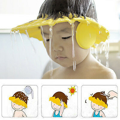 1PC NEW Baby Kids Shampoo Bath Bathing Shower Cap Hat Wash Hair Shield Head Wear