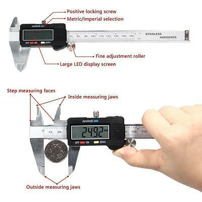 6 Inch/150mm LCD Digital Stainless Steel Vernier Caliper Micrometer With Box