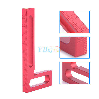 100mm Metal Precision Woodworking Tools L-Squre Minisquare Clamping Squares Red
