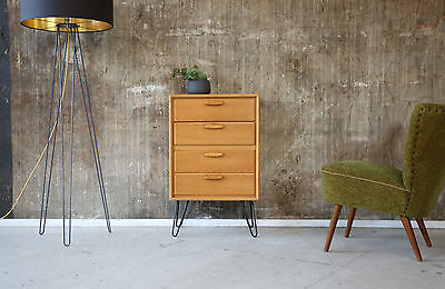60er KOMMODE EICHE VINTAGE 60s OAK CABINET CHEST OF DRAWERS 70er 70s