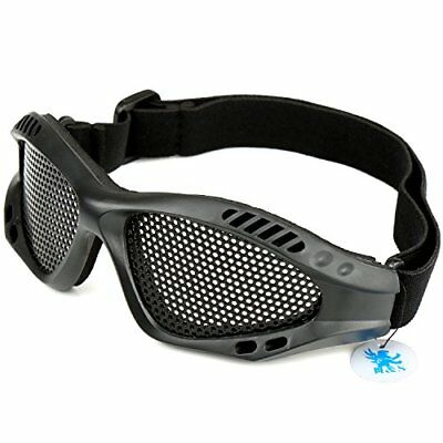 H S  Tactical Military Metal Mesh Goggles Shooting Glasses Airsoft Mask